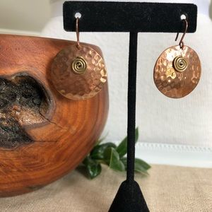 Vintage Mexico Copper Earrings
